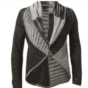 CAbi Gray Wool Cardigan Sweater